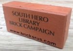 South Hero Library Brick Campaign